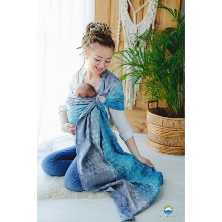 Little Frog Ring Sling Navy Illusion