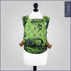 Fidella Fusion ergonomické nosítko s přezkami -Rock n Rolla green splash
