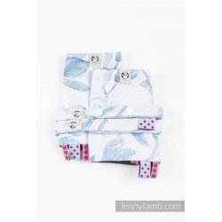 LennyLamb Drool Pads and Reach Straps Set Magnolia Blue Opal