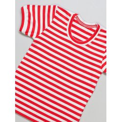 DuoMamas childern T-shirt - short sleeved - red white stripes
