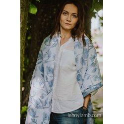 LennyLamb Shawl made of Magnolia Blue Opal wrap fabric