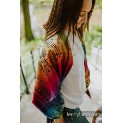 LennyLamb Shawl made of Symphony Rainbow Dark wrap fabric