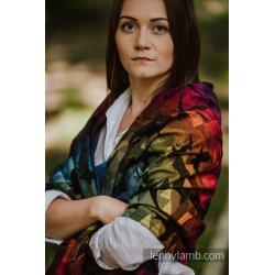 LennyLamb Shawl made of Swallows Rainbow Dark wrap fabric