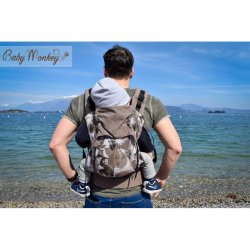 BabyMonkey ergonomic carrier Agilo Leaf Cinnamon