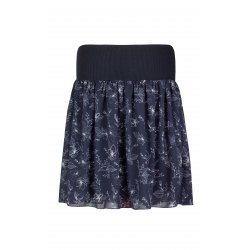 Angel Wings Skirt - Grey with flowers