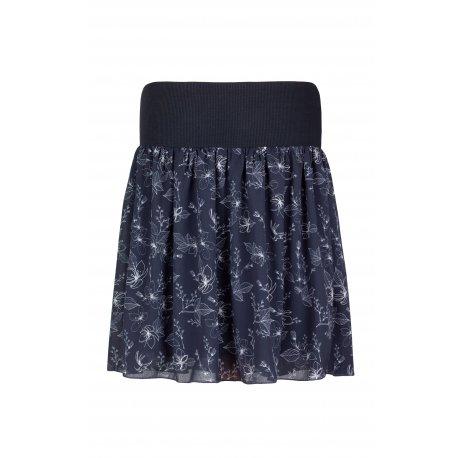 Angel Wings Skirt - Grey with flowers