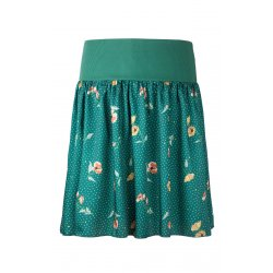 Angel Wings Skirt - Green with polka dots