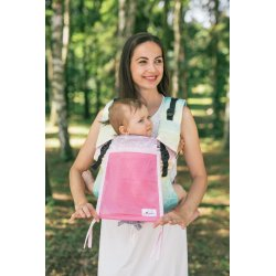 Lenka ergonomical babycarrier - 4ever - Pavučinka - tropický džus - light grey mesh