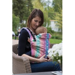 MoniLu ergonomic babycarrier UNI (Adjustable) Rainbow Tulips