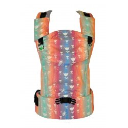 MoniLu ergonomic babycarrier UNI START Rainbow Tulips