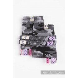 LennyLamb Drool Pads and Reach Straps Set - Grey Camo