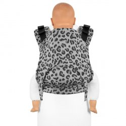 Fidella Fusion babycarrier with buckles - Leopard silver