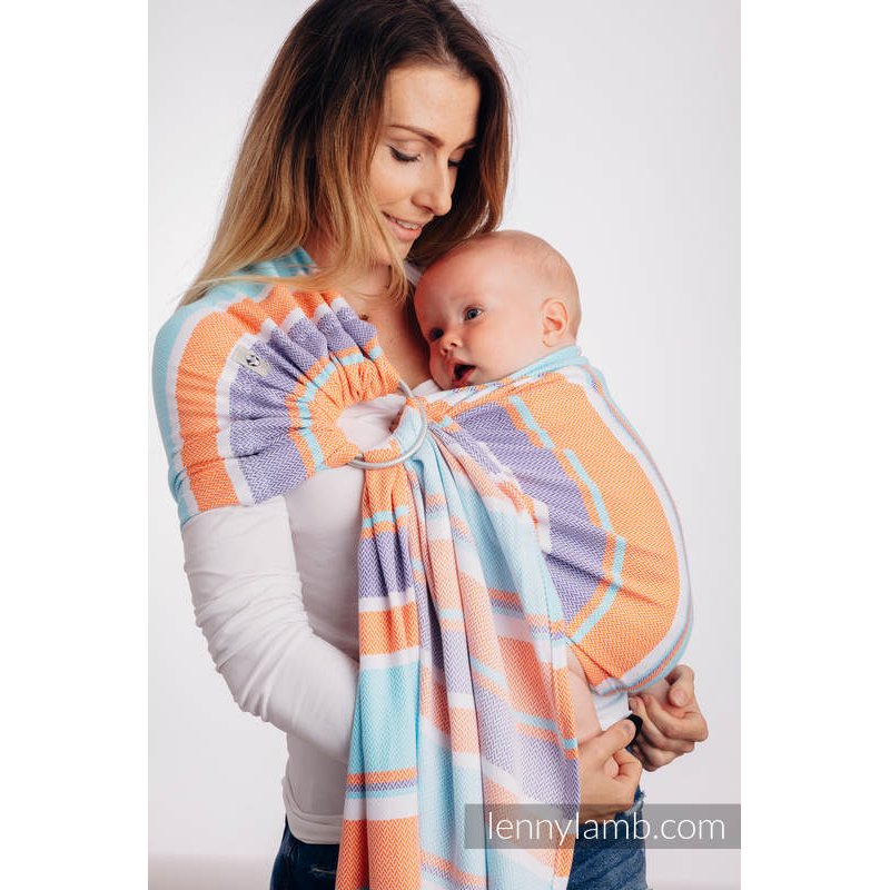 LennyLamb ring sling Little Herringbone Mandarin Heaven