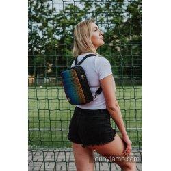 LennyLamb Backpack/Crossbody Bag 2in1 SPORTY - Big Love Rainbow Dark