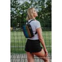 LennyLamb Backpack/Crossbody Bag 2in1 SPORTY - Big Love Rainbow Dark