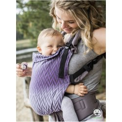 Luna Dream Adjustable babycarrier Grow Up Wrap: Herringbone purple