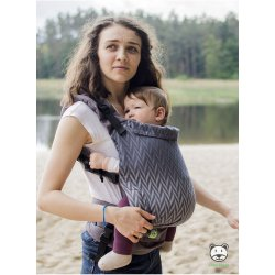 Luna Dream Adjustable babycarrier Grow Up Wrap: Herringbone grey