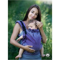 Luna Dream Adjustable babycarrier Multi Size: Herringbone purple