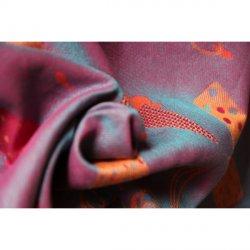 Yaro Ring sling Cool Duo Fuchsia Orange Turkis Tencel Kapok