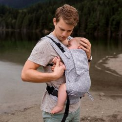 Fidella Fusion babycarrier with buckles - Paperclips Ash blue