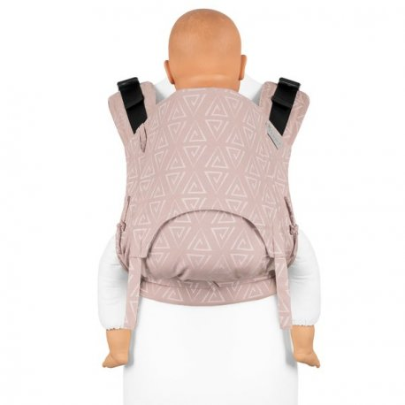 Fidella Fusion babycarrier with buckles - Paperclips Ash rose