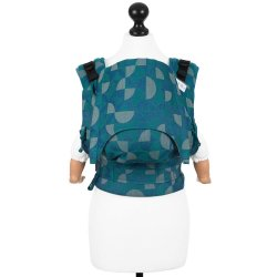 Fidella Fusion babycarrier with buckles - Kaleidoscope - ocean teal - for rent