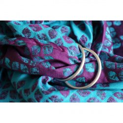 Yaro Ring sling Petals Ultra Purple Blue Bamboo Tencel