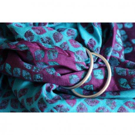 Yaro Ring sling Petals Ultra Purple Blue Bamboo Tencel
