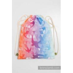 LennyLamb Bag SackPack Swallows Rainbow Light