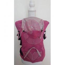 Andala ergonomical babycarrier Labyrint Rosa Slim