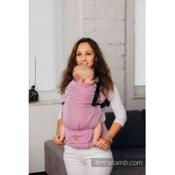 LennyLamb LennyUpGrade adjustable ergonomic carrier - Basic Line Little Herringbone Purple