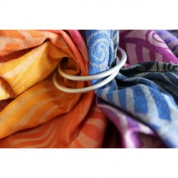 Yaro Ring sling Dandy Havana Grad Linen Tussah