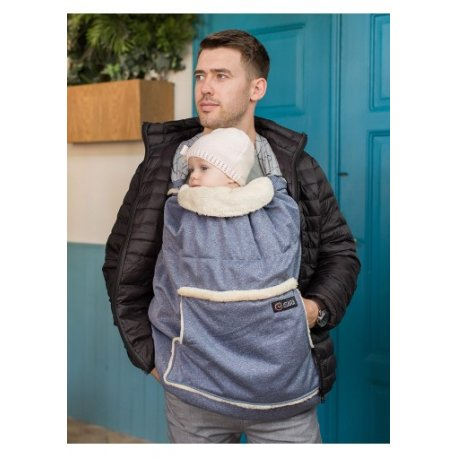 Isara babywearing cover Timeless blue melange 2019