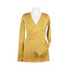 Angel Wings Wrap Sweatshirt mustard
