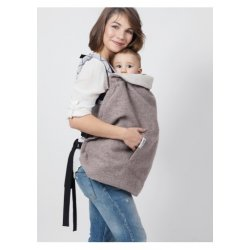 Isara babywearing Warm Clever Cover - Merino Wool soft-nude