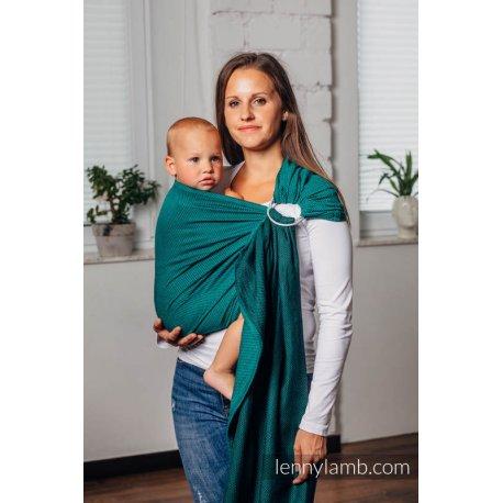 LennyLamb ring sling Basic Line - Herringbone - Emerald