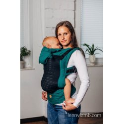 LennyLamb LennyGo Mesh ergonomic carrier Basic Line - Little Herringbone Emerald