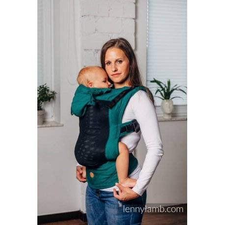 LennyLamb LennyGo Mesh ergonomic carrier Basic Line - Emerald