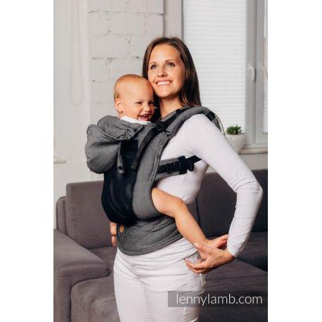 LennyLamb LennyGo Mesh ergonomic carrier Basic Line - Little Herringbone Graphite