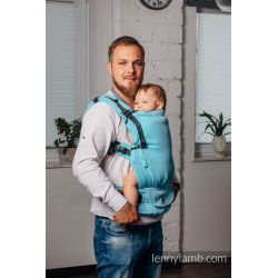 LennyLamb LennyUpGrade Mesh adjustable ergonomic carrier - Basic Line - Little Herringbone Turquoise