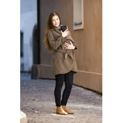 Angel Wings Woolen coat brown