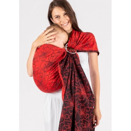 ISARA ring sling - Bloom in Rouge