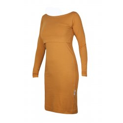 Angel Wings Dress Long sleeved Mustard