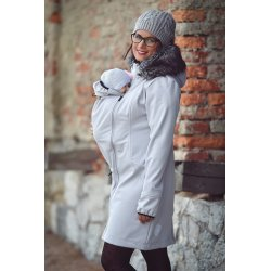 Angel Wings Softshell Coat Light grey
