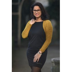Angel Wings bolero sweater - mustard