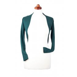 Angel Wings bolero sweater - dark green