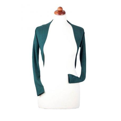 Angel Wings bolero sweater - dark green