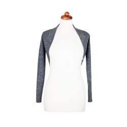 Angel Wings bolero sweater - dark grey