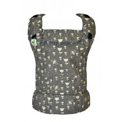 MoniLu ergonomic babycarrier UNI (Adjustable) Tulips Stone