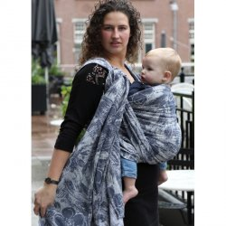 Yaro Ring sling Chloe Duo Light-Grey Navy Confetti